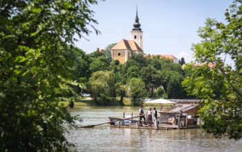 Rafting along the river Drava