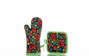 Kuhinjska rokavica in prijemalka